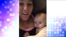 'I love youuuuuu': Adorable baby mimics her mom for sweet message to dad