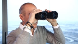 Matt Lauer worked in an air traffic control tower - and no one got hurt!