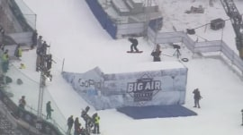 Wicked cool: Giant ski ramp constructed in Boston's Fenway Park