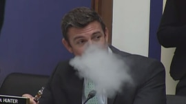 Congressman 'vapes' while opposing e-cigarette ban