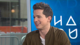 Charlie Puth attempts an English accent to describe meeting Harry Styles
