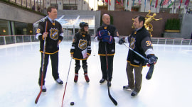 NHL stars Mark Messier and Mike Richter hit the ice at 30 Rock