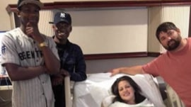 After texting mix-up, strangers come to visit couple with newborn