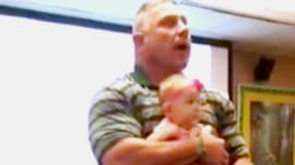 Baylor professor cradles infant during 55-minute lecture