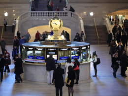 Image: The info booth in Grand Central Terminal.