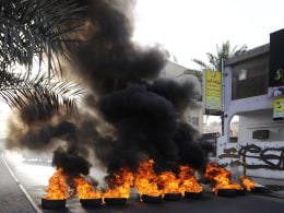 Image: Anti-F1 protest on outskirts of Manama