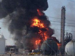 Image: an explosion at The Williams Companies Inc. plant in the Ascension Parish town of Geismar La.,