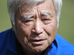 Image: Japanese alpinist Yuichiro Miura, 80, speaks during an interview with Reuters in Kathmandu