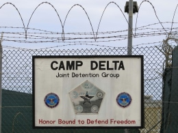 Image: The exterior of Camp Delta is seen at the U.S. Naval Base at Guantanamo Bay