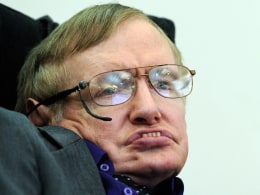 Image: Sir Stephen Hawking makes a rare public appearance