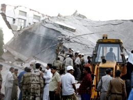 Image: Section of the building of Kasturba Gandhi hospital collapsed in Bhopal