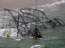 Image: Iconic JetStar Roller Coaster Damaged By Hurricane Sandy Torn Down