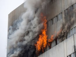 Image: Fire Erupts At Lahore Development Authority (LDA) Plaza In Lahore