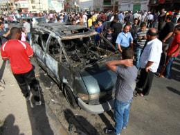 Image: Benghazi hospital car bomb
