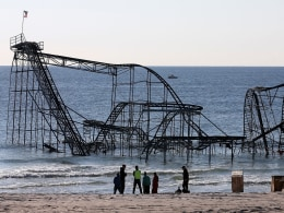 Image: Iconic Jet Star Roller Coaster Damaged By Hurricane Sandy Torn Down