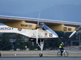 Image: Experimental Solar Powered Plane Takes Test Flight