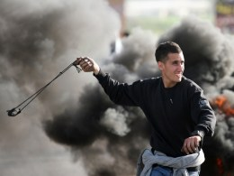 Image: TOPSHOTS-PALESTNIAN-ISRAEL-CONFLICT-CLASHES