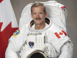 Image: Handout photo of Canadian Astronaut Chris Hadfield
