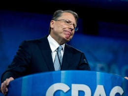 Image: National Rifle Association (NRA) CEO Wayne LaPierre speaks at the Conservative Political Action Conference (CPAC)