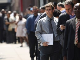 Image: Job Fair Held In Midtown Manhattan