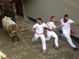 Image: SPAIN-FESTIVAL-TOURISM-PAMPLONA