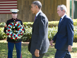 Image: TANZANIA-US-OBAMA-BUSH