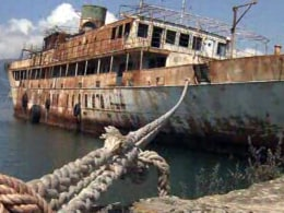 "Once an iconic ""seagoing White House, "" Harry S. Truman's presidential yacht is now rusting in a picturesque Italian port."