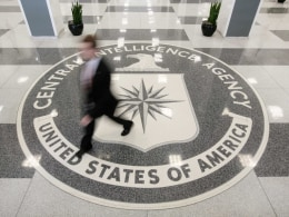 Image: File photo shows the lobby of the CIA Headquarters Building in McLean, Virginia