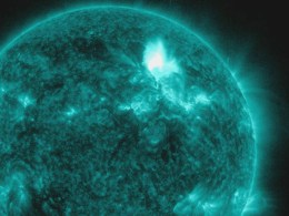 Image: The Solar Dynamics Observatory captures an M8.7 class flare in a handout photo released by NASA