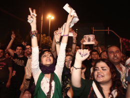 Image: Hassan Rouhani Supporters Celebrates His Surprising Victory - Tehran