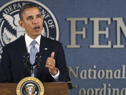 Image: Obama Speaks At FEMA About Shutdown