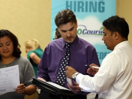 Image: Job Seekers Look For Work At Career Fair