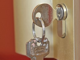 Key in Lock of Safe