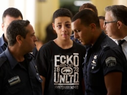Image: Tariq Abu Khdeir, 15, a U.S. citizen who relatives say was beaten and arrested by Israeli police