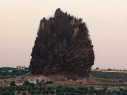 Image: Syrian rebels say they set off a large explosion at the Wadi Deif Syrian army base