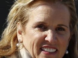 Image: Kerry Kennedy, daughter of assassinated Senator Robert F. Kennedy and the ex-wife of New York Governor Andrew Cuomo, exits the Westchester County Courthouse in White Plains, New York