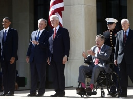 Image: Barack Obama, George W. Bush, Bill Clinton, George H.W. Bush, Jimmy Carter