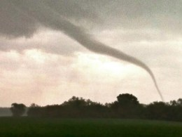 Image: A rope tornado near Viola, Kansas, on May 19, 2013.