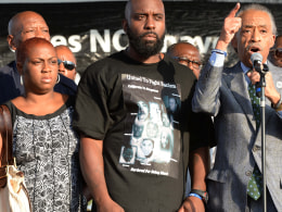 Al Sharpton, Michael Brown, Sr. Lesley McSpadden