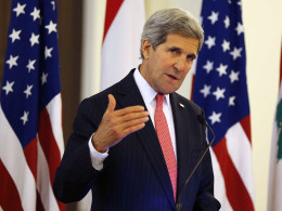 Image: US Secretary of State John Kerry visits Lebanon