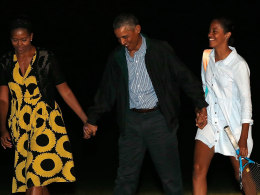 Image: President Obama And First Family Return To White House From Vacation