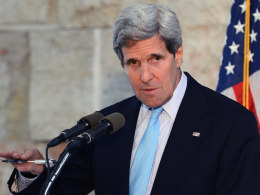 Image: U.S. Secretary of State John Kerry Meets With Middle East Leaders