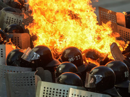 Image: Anti-government protests in Ukraine.