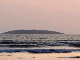 Image: Island appears after Pakistan Earthquake
