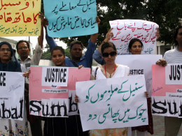 Image: Protest against the rape of a minor girl in Lahore