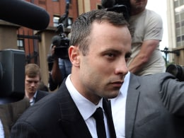 Image: Oscar Pistorius leaves the high court in Pretoria.