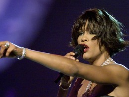 Image: File photo of Whitney Houston before winning for Best Female R&B Vocal Performance at the 42nd annual Grammy Awards