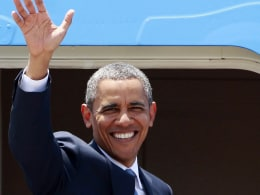 Image: US President Barack Obama departs from the Philippines