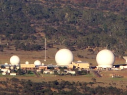 Pine Gap, a joint U.S.-Australian listening and tracking base.