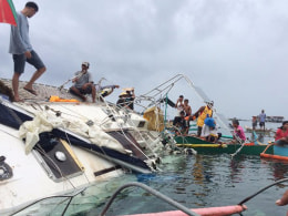 Image: German national found dead inside a drifting yacht in the southern Philippines